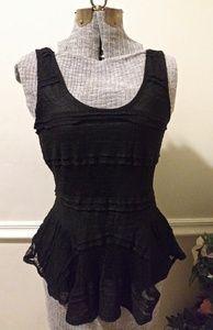 NWT Anthropologie Ganni Black Lace Camisole